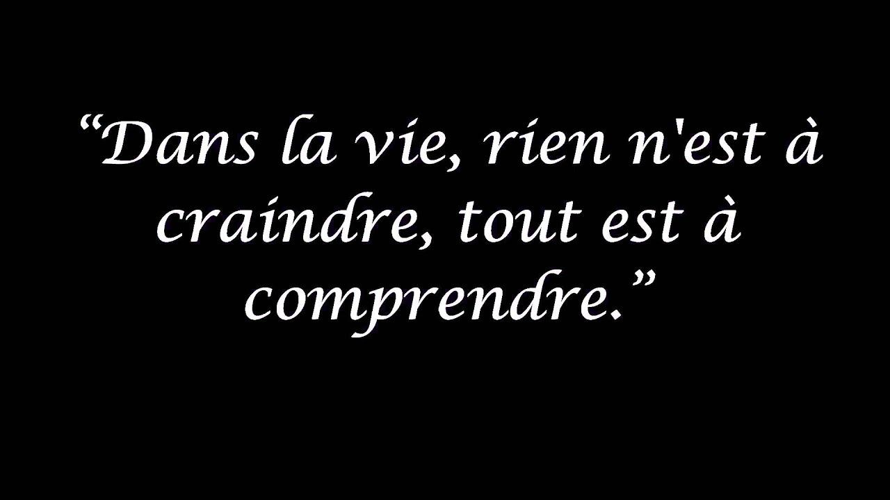 Les Citations De Marie Curie Youtube