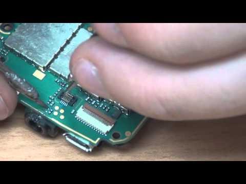 Восстановление цепи питания Сенсора на Nokia 5228