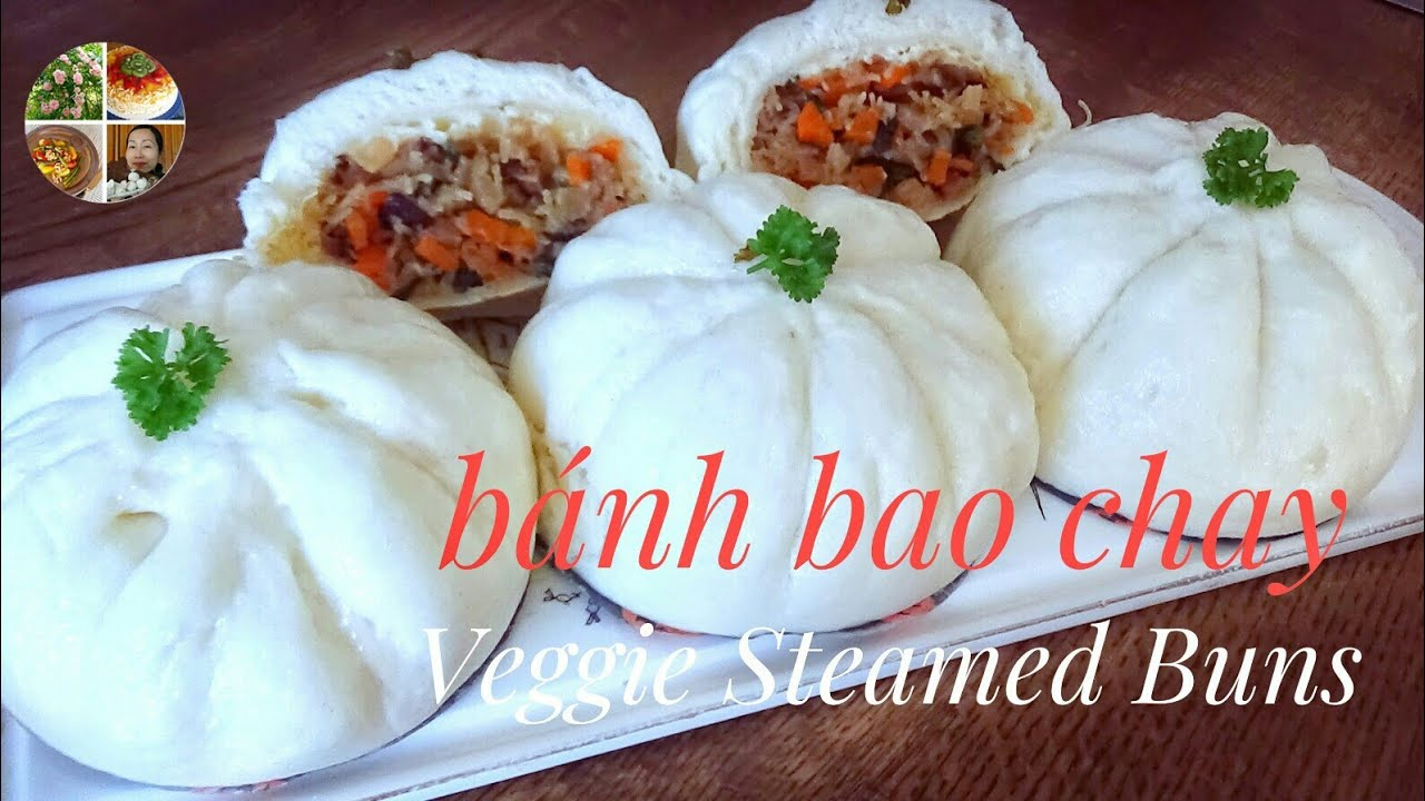 Cách làm bánh bao chay ngon trắng đẹp không dùng khuôn   Vietnamese German Kitchen Garden