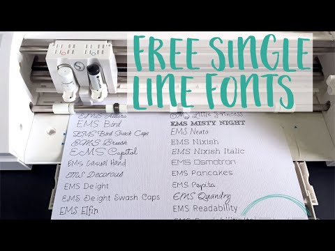Free Single Line Fonts For Silhouette