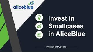 Smallcase in Alice Blue |Investment Strategy|Simple|Passive Technique|Stocks|ETF|Long Term|Malayalam