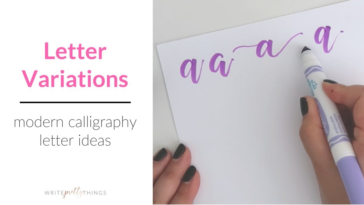 Modern calligraphy letter variations brush calligraphy youtube