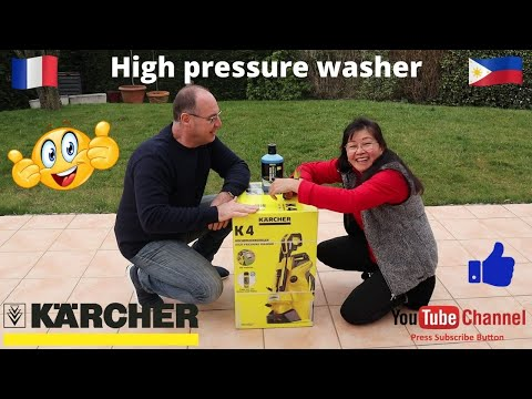 Karcher K4 Power Control. High Pressure Washer. Unboxing and test.