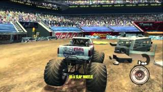 Monster Jam Path of Destruction Gameplay - Stunts [HD] (360/PS3)
