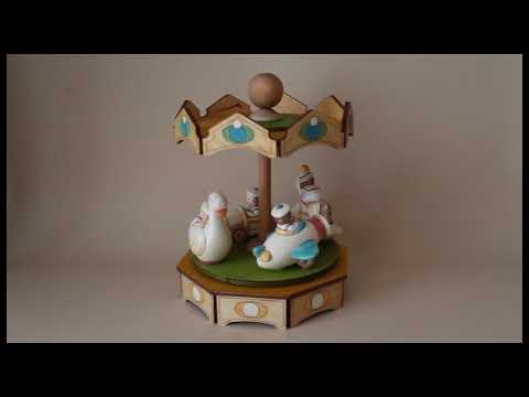 GIOSTRA VARIETA' carillon giostra legno (Melodia: SERENATA Schubert)