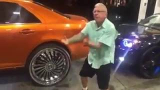 OLD HEAD TURNS UP AT A GAS STATION DOPE RIDE!
