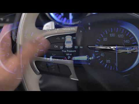 Instrument Cluster Display-Digital dashboard on the car instrument panel of 2017 Chrysler 300