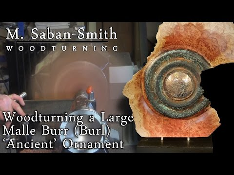 #78 Turning an 'Ancient & Rusted' Mallee Burr Wood Ornament