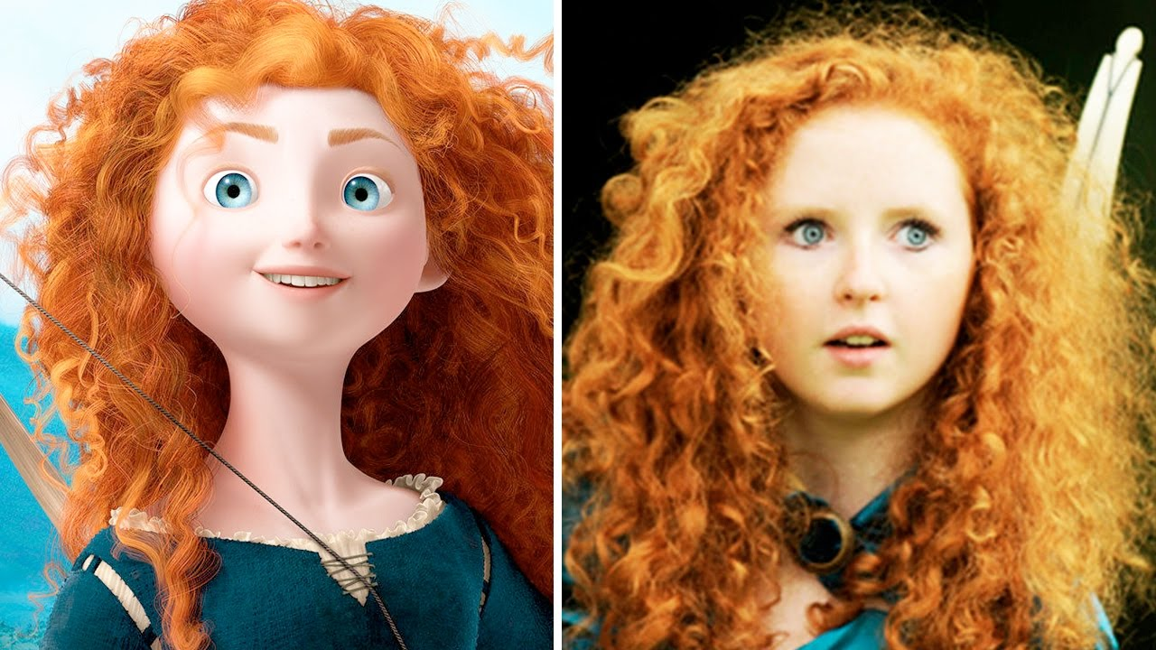 10 Disney Princesses In Real Life Real Merida Youtube