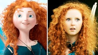 10 Disney Princesses In Real Life - REAL MERIDA!!!