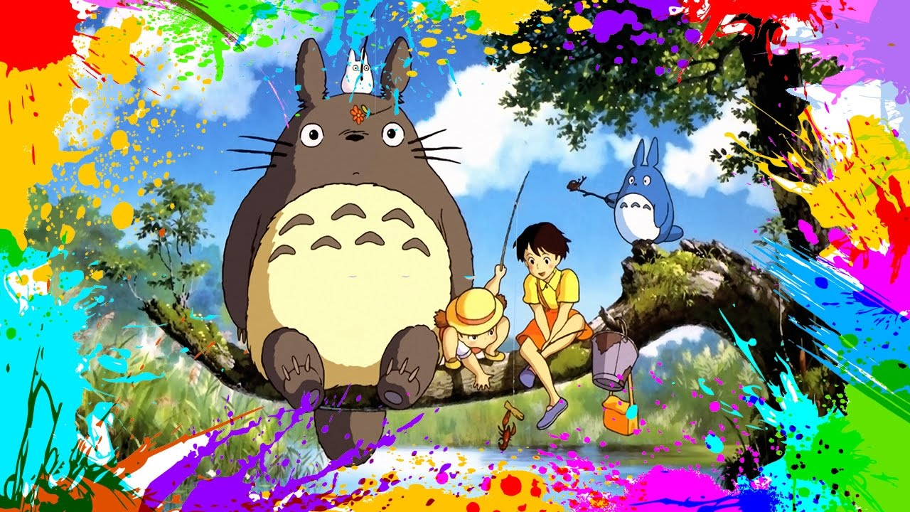 Painting Tonari no Totoro | Coloring Book Pages for Kids | Paint and ...