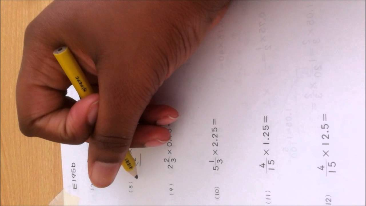 How To Multiply Fractions By Decimals