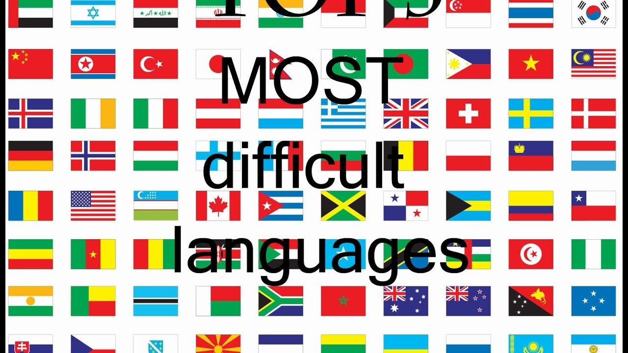 Top Of The Most Difficult Languages In The World YouTube - Top 5 languages in the world