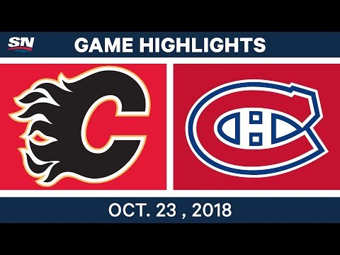 NHL Highlights | Flames vs. Canadiens - Oct. 23, 2018