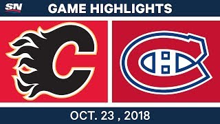 Скачать NHL Highlights Flames Vs Canadiens Oct 23 2018