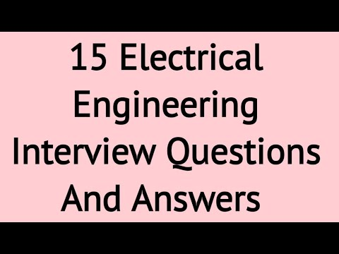 15 most asked Electrical Engineering Interview Questions And Answers