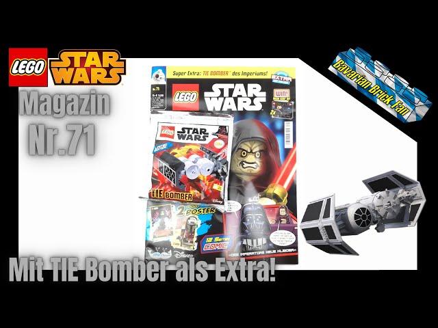 LEGO Star Wars Magazin Nr.71 mit Tie Bomber als Extra!   Review+Unboxing deutsch