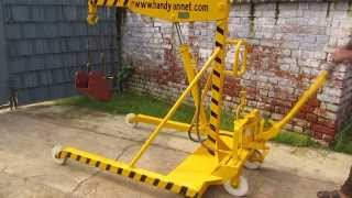 Welcome, see Demonstration of  Mobile floor Manual Hydraulic Lifting Jib Crane, www.handyindia.com
