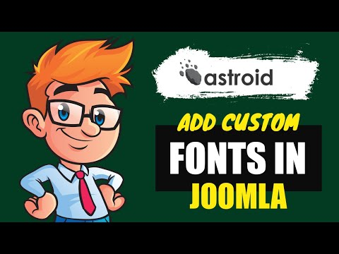 How To Add Custom Fonts To #Joomla Template?