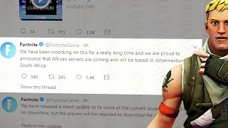 FORTNITE Leaked African Servers on Twitter then Deleted It!