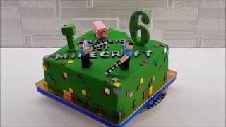 Торт Minecraft.