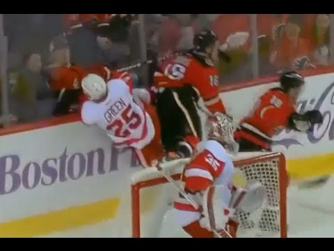 Mike Green Injury After Hit From Jooris (10/23/15)