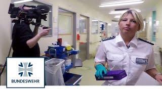 Dreharbeiten im Bwk | Reservistin vor der Kamera | Bundeswehr