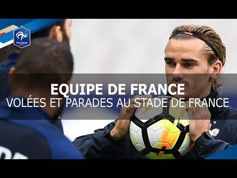 Equipe de France, Devant le but avant France-Biélorussie, reportage I FFF 2017