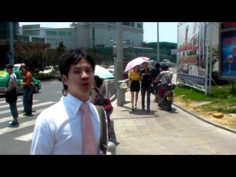Crossing Ningbo's street