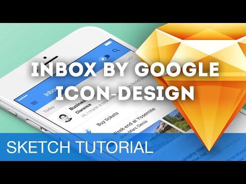 Sketch 3 Tutorial • Inbox by Google Icon-Design • Sketchapp Tutorial & Design Workflow