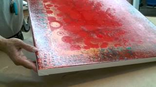 """Framing: How To Frame A Roll Canvas - """"Red Abstract"""" - Part 1"""