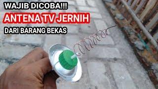 Wajib ditiru !!Cara membuat antena tv jernih dari barang bekas