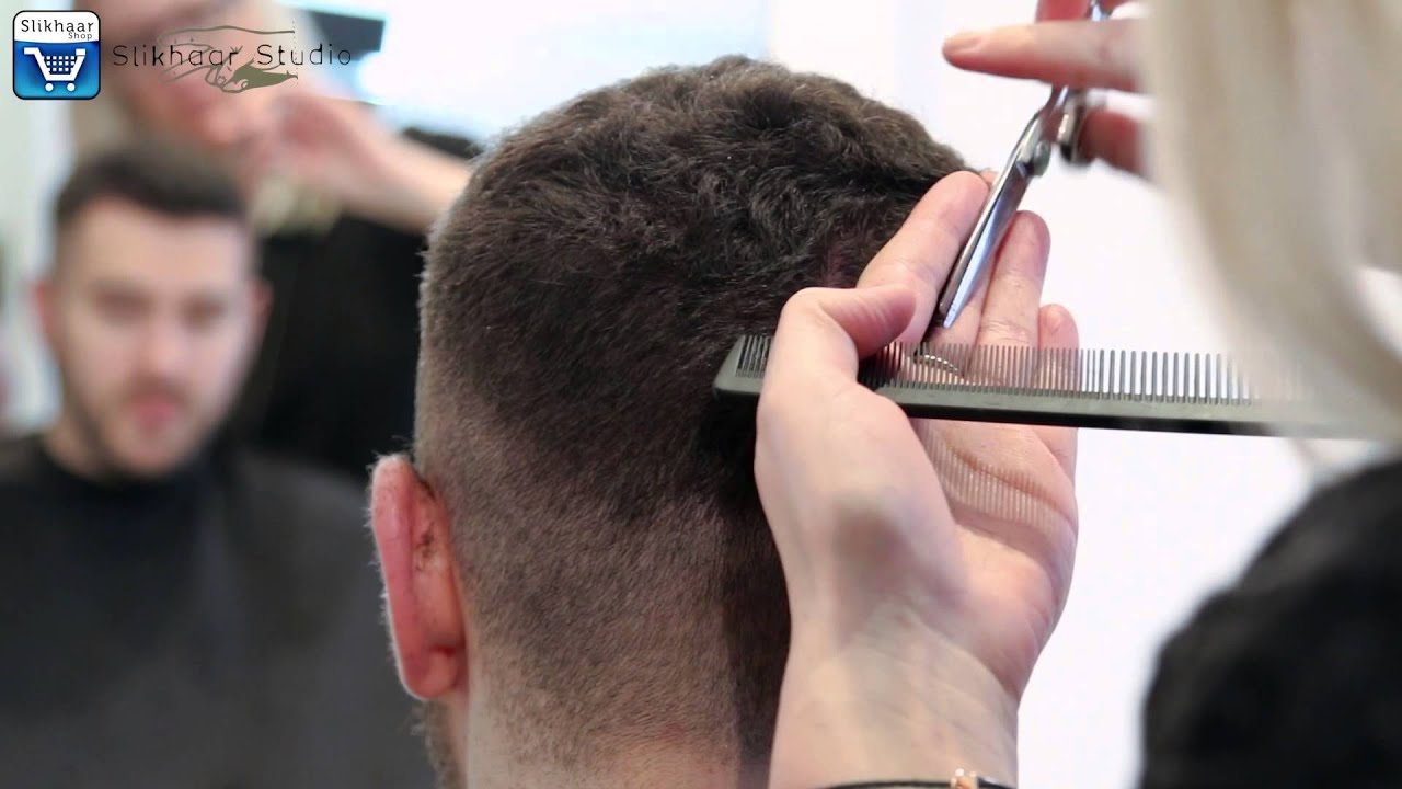 Crew Cut Hairstyle Short Mens Hair Tutorial By Vilain Silver
