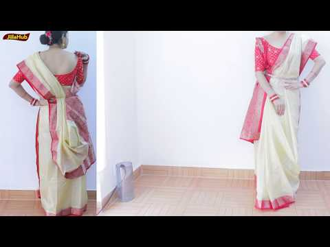 How To Wear Perfect Bengali Saree To Look Bollywood Beauty | Best Bengal Sari Drape & Look Stylish