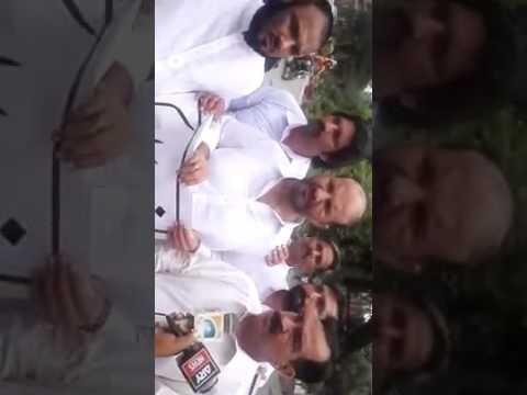 Haji Ghulam Nabi Virk (Apposition Leader Baldya SheikhPura)talking with Media against currop baldya