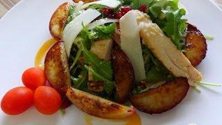 Салат с куриной грудкой и нектарином  Пошаговый рецепт с фото