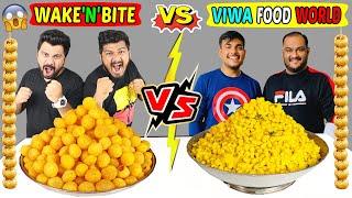 VIWA FOOD WORLD'S RECORD BROKEN | PANI PURI STACK CHALLENGE | WAKE'N'BITE VS VIWA FOOD WORLD(Ep-320)