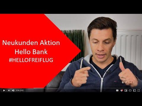 Hello Bank: Neukunden Aktion #HELLOFREIFLUG - Städteflug statt Bares?!