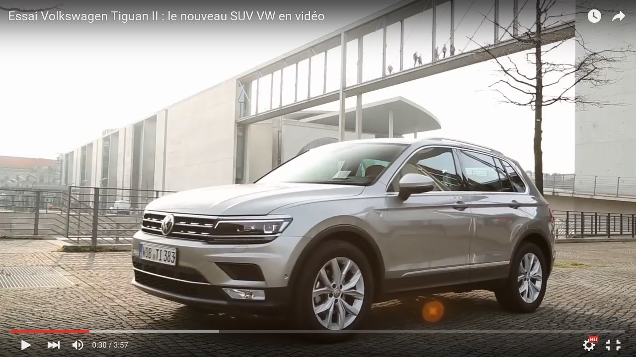 essai volkswagen tiguan ii le nouveau suv vw en vid o youtube. Black Bedroom Furniture Sets. Home Design Ideas
