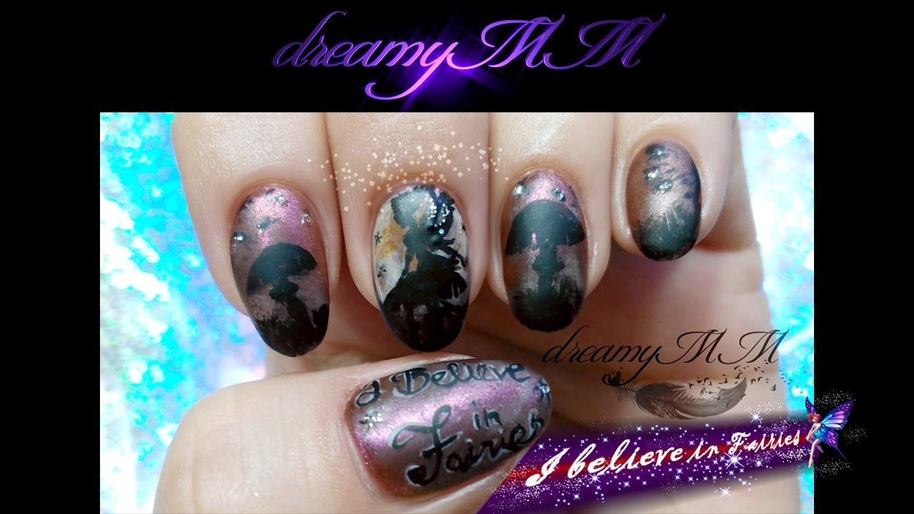 Fairy Nail Art Inspired by Julie Fain Art - FREEHAND - YouTube
