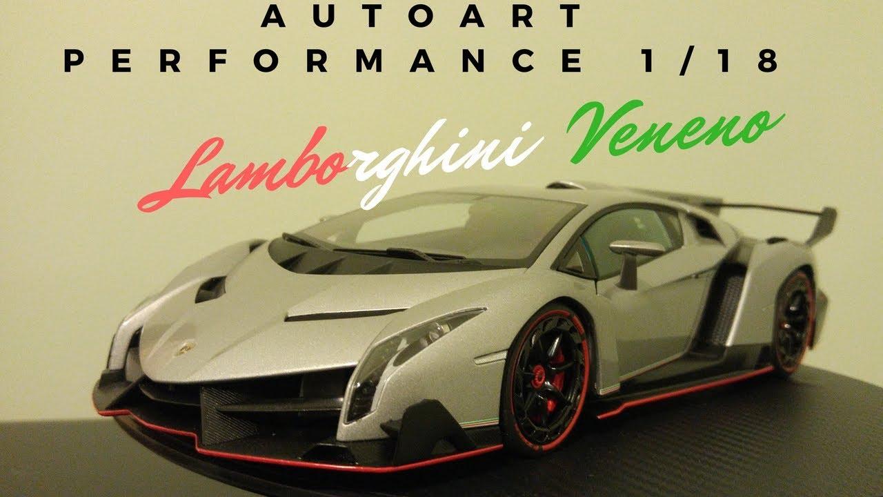 Autoart Signature 1 18 Lamborghini Veneno Gray Geneva Auto Show Review
