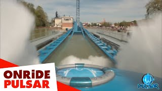 PULSAR: First On-ride video (POV) - Walibi Belgium(Discover the first on-ride video of PULSAR, the new world premiere splashcoaster in Walibi Belgium. From 0 to 100 km/h in a few seconds? A free fall of 45 ..., 2016-05-07T10:02:58.000Z)