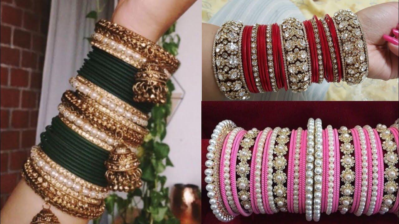 Bangles set design ideas/Bangles Pattern ideas/wedding glass Bangles ...