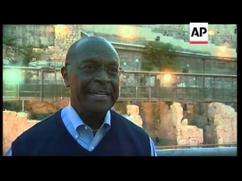 US Republican presidential hopeful visits Jerusalem