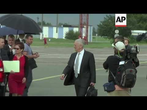US Defence Secretary Mattis arrives in Ukraine