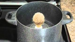 How to Remove a Badger/Boar knot from a handle Using Steam.