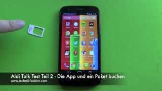 Aldi Talk Test Teil 2 - Die App und ein Paket buchen