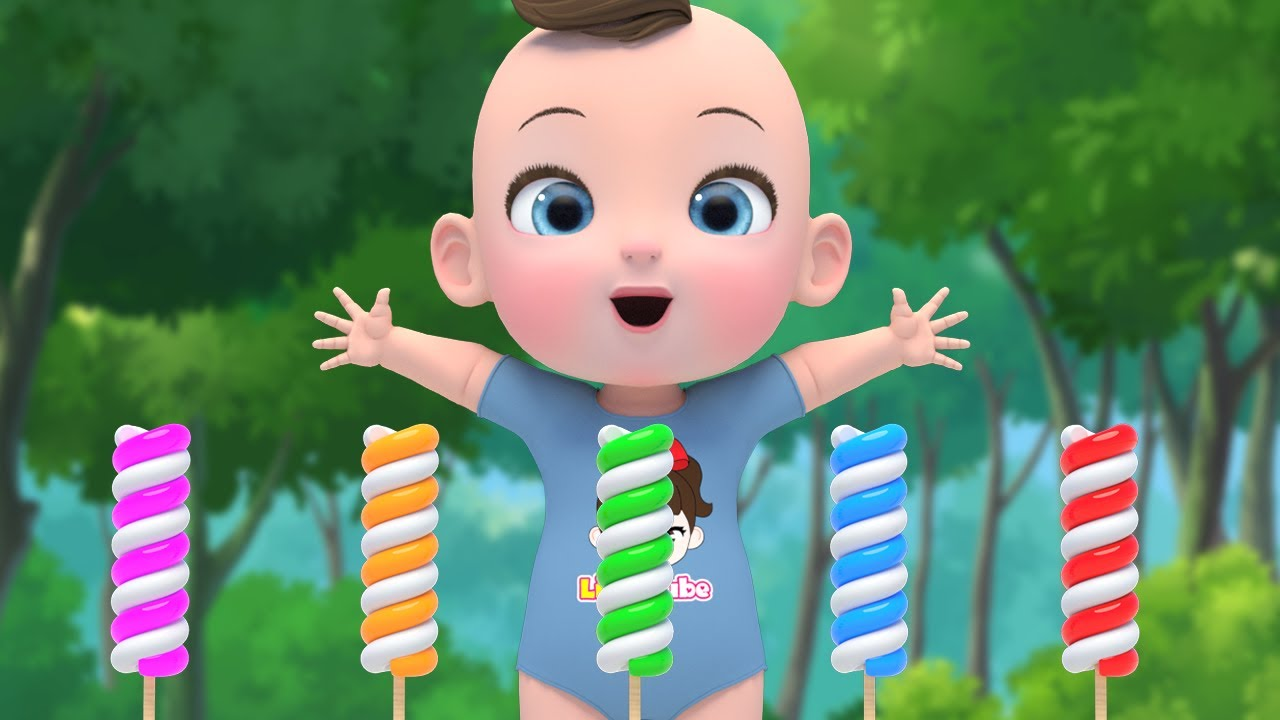 Learn Color with Finger Family Song 롤리팝 사탕 빙글빙글 휘리릭팝 핑거패밀리 손가락가족송 영어동요 Nursery rhymes 라임이와 영어 공부 해요!