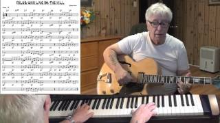 FOLKS WHO LIVE ON THE HILL - jazz guitar & piano cover ( Jerome Kern )