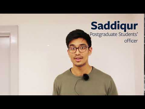 Meet Saddiqur, your new Postgraduate Students' Officer